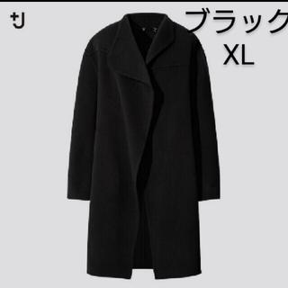 UNIQLO - ユニクロ ジルサンダー カシミヤブレンドノーカラーコート ブラック XL 新品
