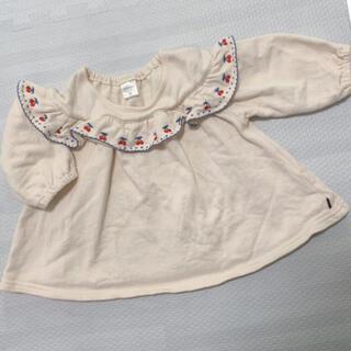 futafuta - futafuta さくらんぼ 刺繍 トレーナー トップス80サイズ