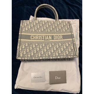 Dior - DIOR ブックトート BOOK TOTE スモールバッグ グレー