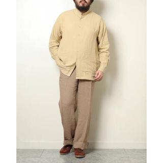 COMOLI - オーラリー リネンバンドカラーシャツ 19ssサイズ4