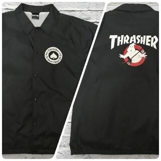 THRASHER - THRASHER × GHOSTBUSTERS コーチ ジャケット 【XL】美品