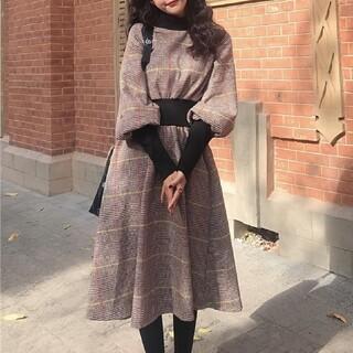 GRL - 韓国ファッション 人気の格子 ワンピース チェック柄 レディース  即日発送