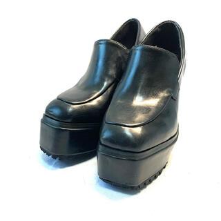 アンビー(ENVYM)のアンビー スクエアトゥローファー パンプス ブーツ ハイヒール 厚底 22.5(ハイヒール/パンプス)