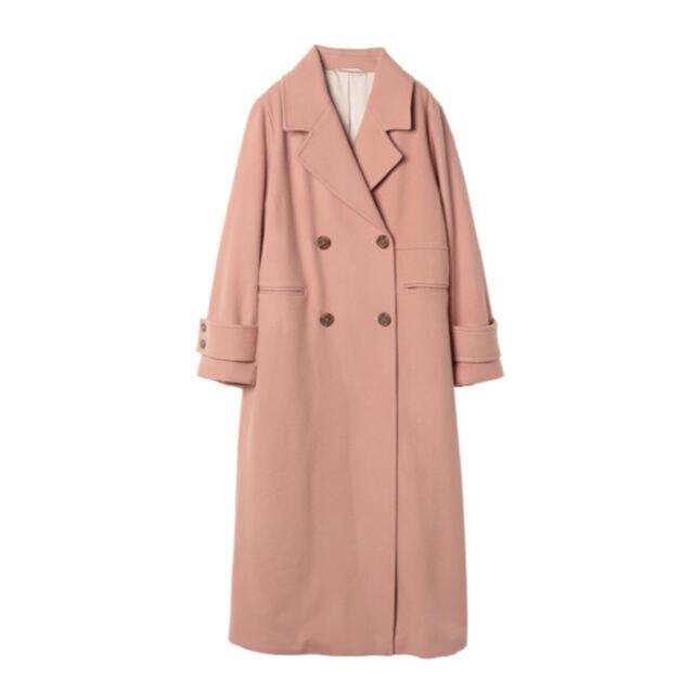 eimy istoire(エイミーイストワール)のeimyistoire エイミーイストワール ウールチェスターコート ピンク レディースのジャケット/アウター(チェスターコート)の商品写真