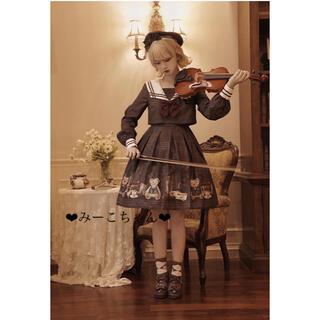 MILK - 英国の少女 ワンピース2点セット クラロリ しゅくれどーる ロリィタ ロリータ