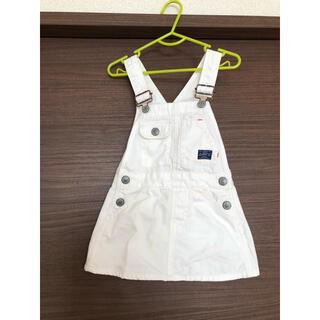 F.O.KIDS - デニム ジャンパースカート サロペット ホワイト スカート ワンピース