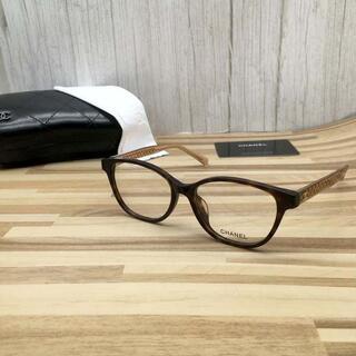 シャネル(CHANEL)のシャネル メガネ 鼈甲フレーム キルティング3402(サングラス/メガネ)