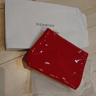 Yves Saint Laurent Beaute - イヴ・サンローラン 赤 ノベルティ エナメルポーチ