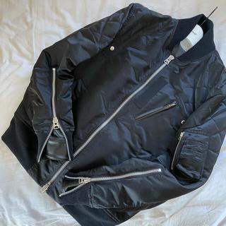 サカイ(sacai)の希少 sacai 20aw MA-1 ジャケット ブルゾン レザードッキング (ブルゾン)