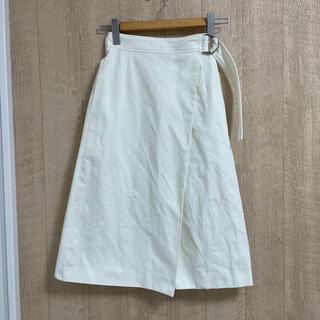 マカフィー(MACPHEE)のMACPHEE 34 ホワイト スカート(ひざ丈スカート)