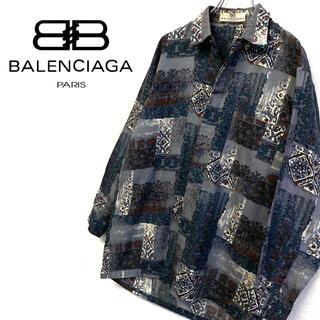 Balenciaga - 美品 オールド BALENCIAGA 総柄 デザインシャツ メンズM 日本製