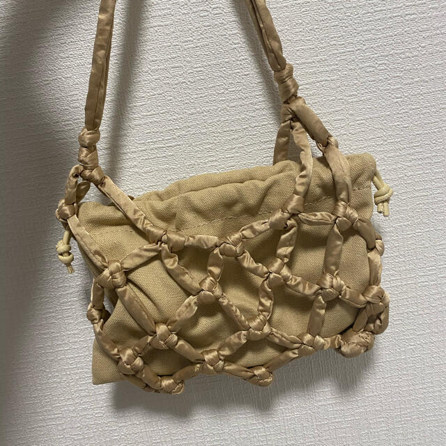 snidel(スナイデル)のSNIDEL サテンメッシュバッグ レディースのバッグ(ハンドバッグ)の商品写真