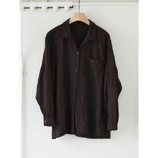 COMOLI - 【20AW/希少品】comoli 縮絨 ウールオープンカラーシャツ サイズ 2