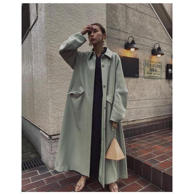 Ameri VINTAGE(アメリヴィンテージ)のAMERI VINTAGE BOTTLE WAVE SLEEVE COAT  レディースのジャケット/アウター(ロングコート)の商品写真