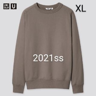 UNIQLO - ユニクロ ユニクロユー ワイドフィットスウェットシャツ カーキ XL 新品