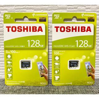 東芝 - 【新品】東芝製 メモリーカード マイクロSDカード 128GB×2枚セット