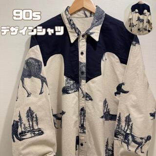 Paul Smith - 【ブランド古着】90s デザインシャツ ゆるだぼ