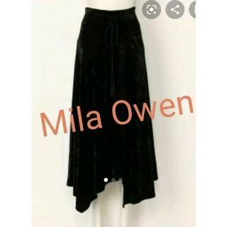 Mila Owen - 新品未使用タグ付き☆ミラオーウェン ヘムライン透け感スカート