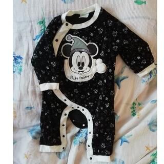 Disney - ディズニー ミッキーマウス ロンパース 80サイズ ベビー服 冬物ロンパース