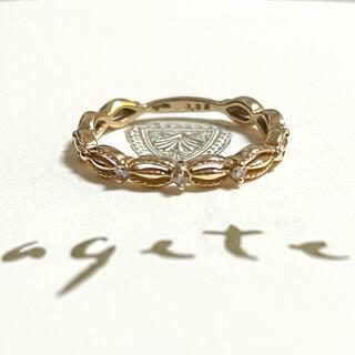 agete - アガット K10 ドレスリング ダイヤモンド  ピンキーリング 指輪 agete
