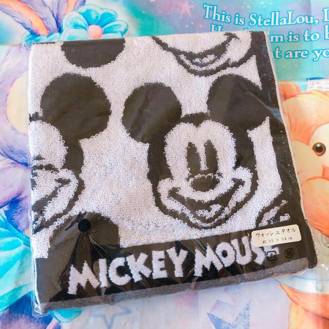 Disney(ディズニー)の1点のみ ディズニー ミッキー ウォッシュタオル エンタメ/ホビーのおもちゃ/ぬいぐるみ(キャラクターグッズ)の商品写真