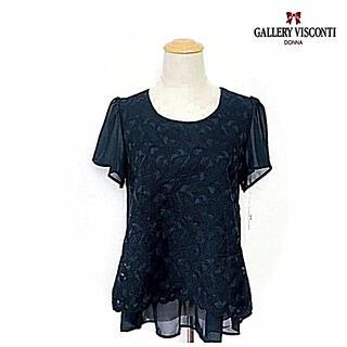 ギャラリービスコンティ(GALLERY VISCONTI)のそうレース重ねシフォンブラウス(シャツ/ブラウス(半袖/袖なし))