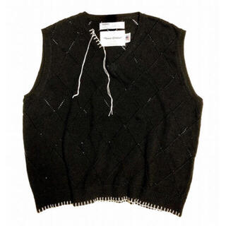 Blanket Embroidery Argyle Knit Vest