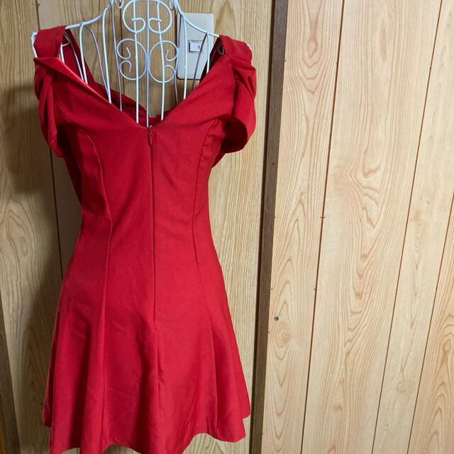 dazzy store(デイジーストア)のレッド ミニドレス リボン レディースのフォーマル/ドレス(ミニドレス)の商品写真
