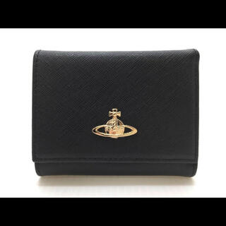 Vivienne Westwood - ヴィヴィアンウエストウッド がま口 三つ折りミニ 財布 Vivienneブラック