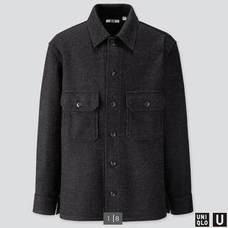 ユニクロ(UNIQLO)の【ユニクロ】フリースシャツジャケット【ダークグレー】(ブルゾン)
