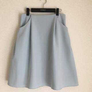 FOXEY - ♡極美品♡ FOXEY イリプスフレアー スカート 40 ソフィーブルー