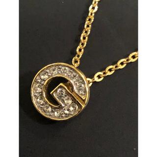 ジバンシィ(GIVENCHY)の美品 ジバンシー ヴィンテージ ロゴ ビジュー ネックレス(ネックレス)