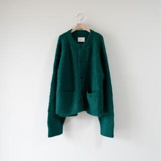 SUNSEA - stein kid mohair cardigan