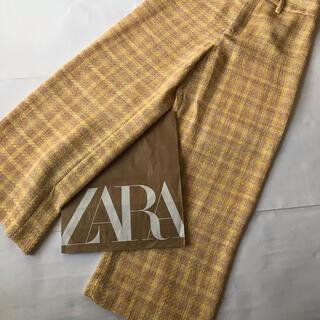 ZARA - 新品 タグ付き zara ツィードワイドパンツ XS