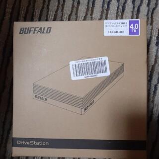 BUFFALO 外付けハードディスク 4TB ブラック HD-AD4U3