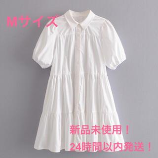 ☆新品☆半袖ワンピースMサイズ フレアシャツワンピース ZARA好きな方