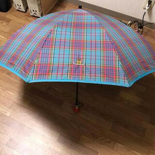 ヴィヴィアンウエストウッド(Vivienne Westwood)のマックマラータータンチェック折り畳み傘(傘)