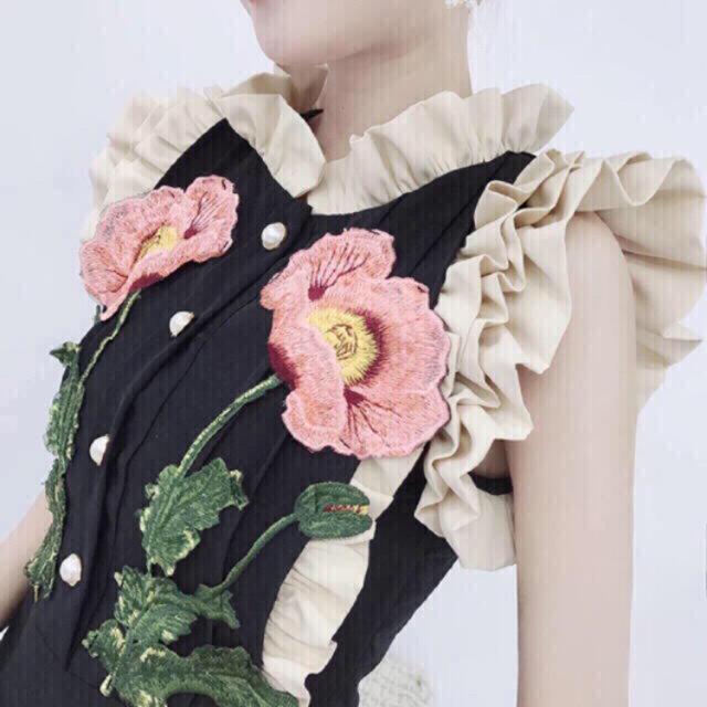 Lily Brown(リリーブラウン)の最終セール💓インポート♡GG ポピー 刺繍ワンピース♡グッチ  レディースのワンピース(ひざ丈ワンピース)の商品写真