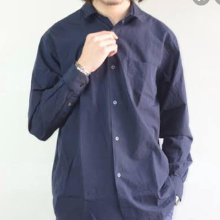 COMOLI - コモリシャツ ネイビー3