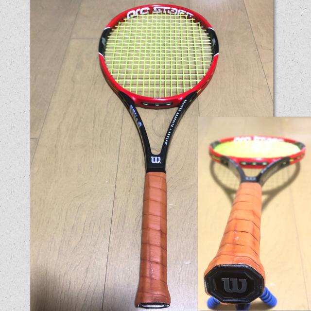 wilson(ウィルソン)のWilson PROSTAFF97 v10 G2中古状態良好☆ガット張りサービス スポーツ/アウトドアのテニス(ラケット)の商品写真