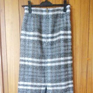 ドゥドゥ(DouDou)のDOUDOU シャギーチェックスカート(ロングスカート)