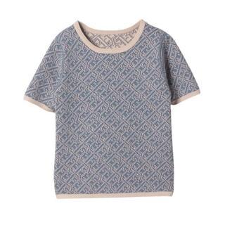eimy istoire - 完売色 ES spring monogramリバーシブルニット ブルー