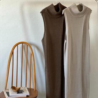 トゥデイフル(TODAYFUL)のcft.オリジナル♡2way layer knit long vest/ecru(ベスト/ジレ)