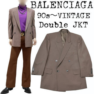 Balenciaga - 美品★BALENCIAGA★バレンシアガ★90s★ダブル ジャケット★ブラウン