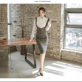 韓国ファッション フリルトップス スカート セット