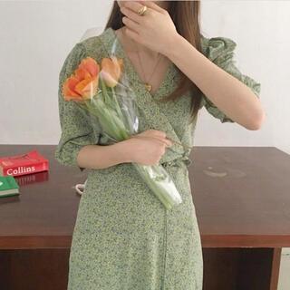 ゴゴシング(GOGOSING)のemmy ワンピース 花柄ワンピース 韓国ファッション 韓国通販(ひざ丈ワンピース)