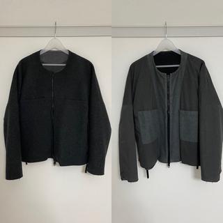 SUNSEA - sunsea 15aw reversible melton jacket 3