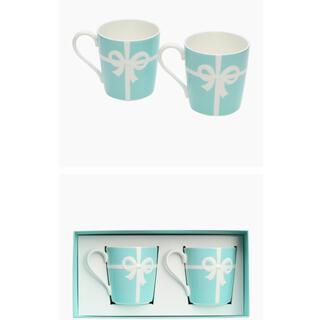 ティファニー(Tiffany & Co.)のティファニー未使用ブルーリボンマグカップ ペア(グラス/カップ)