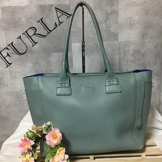 Furla - FURLA フルラ トートバッグ ハンドバッグ 青 ブルー