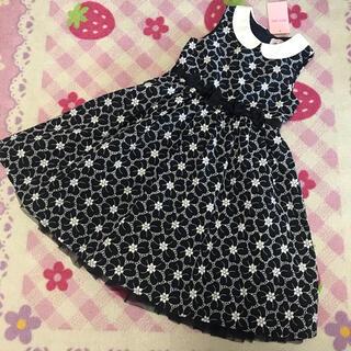 mezzo piano - 新品タグ付き メゾピアノ 花刺繍衿つきワンピース ドレス